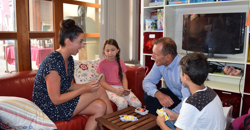 Tony Abbott Visits Renovated Bear Cottage